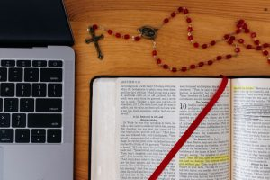 laptop and bible